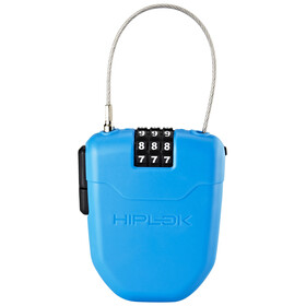Hiplok FX Bike Lock with reflector blue